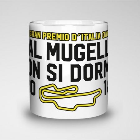 Taza del Gran Premio d'Italia Oakley, Mugello 2018 hastag #AlMugellononsidorme