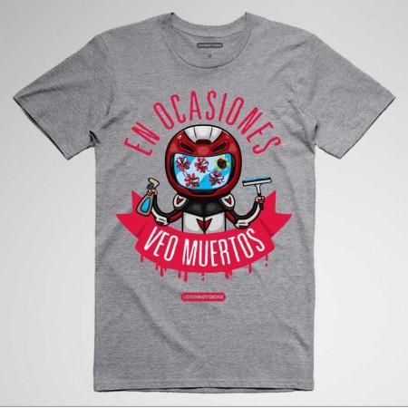 Camisetas divertidas motos 'En ocasiones veo muertos...'