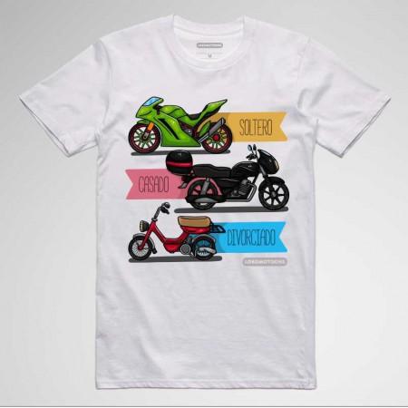 52ea6c5d6 Camisetas divertidas para moteros. Estado Soltero