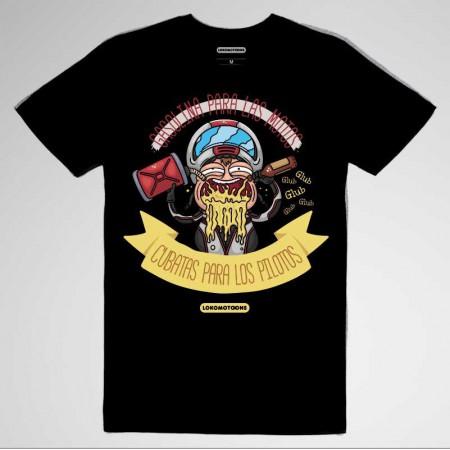 Camiseta motera Gasolina para las motos, cubatas para los pilotos