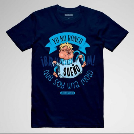 Camisetas divertidas moteras 'Yo no ronco, sueño que soy una moto'