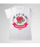 Camiseta motera mujer, Dime algo con amor...