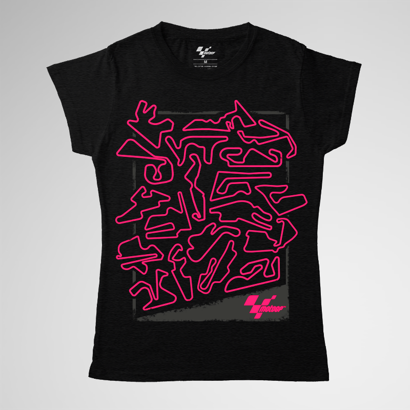MotoGP Woman T-Shirt - Fluor Layouts