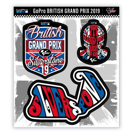 GP Gran Bretaña 2019, Kit Pegatinas