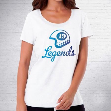 "Camiseta de mujer con diseño Casco ""Legends"