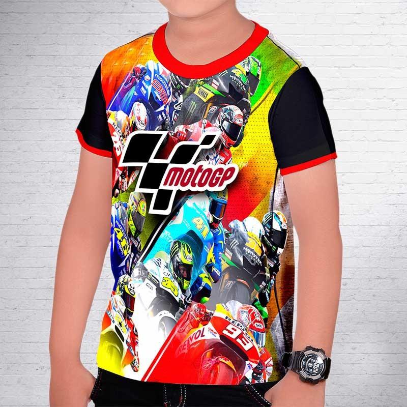 T shirt children full print motogp for Full t shirt printing