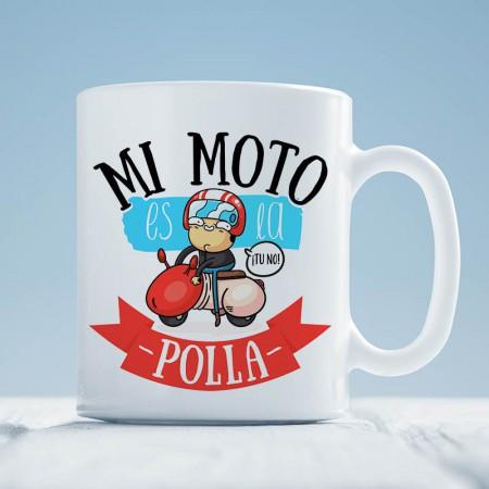 Taza 'Mi moto es la polla'