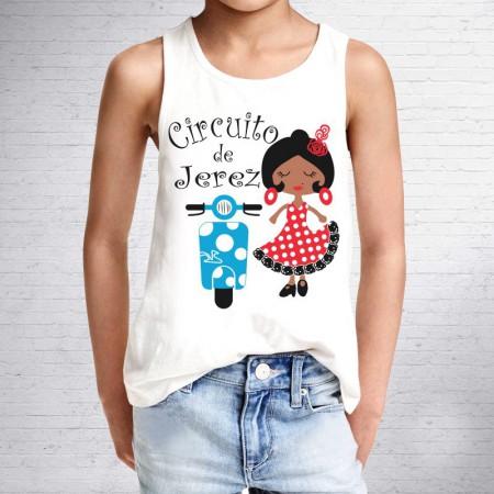 Camiseta de Niña Flamenca