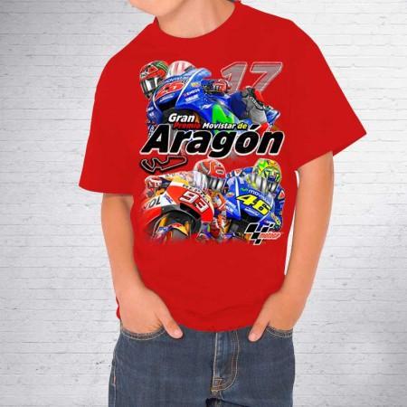 Camiseta de niño MotoGP. Gran Premio ARAGÓN Alcañíz
