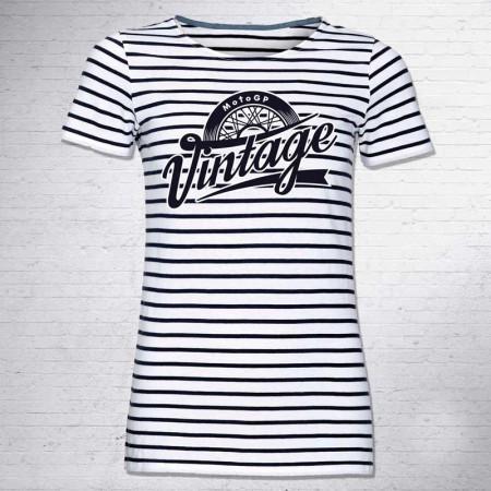 T-shirt Girl MotoGP Vintage Girl
