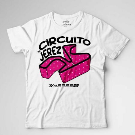 Camiseta del Circuito de Jerez con Trazado de Lunares